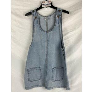 Encore Jeans Buttons Vintage Jeans Vtg Skirt Dress